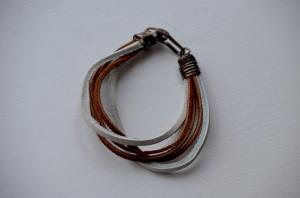 Leather Scrap Bracelet #4