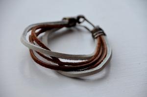 Leather Scrap Bracelet 1