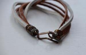 Leather Scrap Bracelet #2