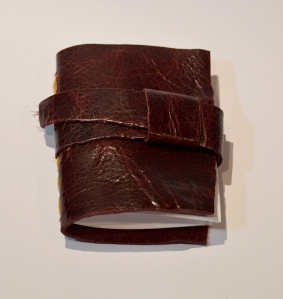 Red/Brown Leather Handmade Book
