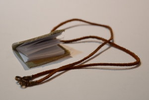 Tan Explorer Book Necklace