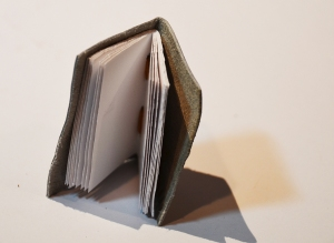 Mini Green Tinted Handmade Book