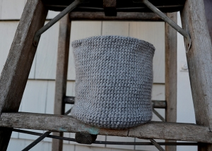 Crocheted Bin side
