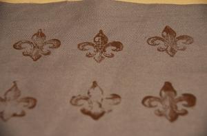 fleur de lis printed fabric